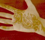 Mehndi on my hand