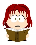 South Park Lilia reading books: self-potrait